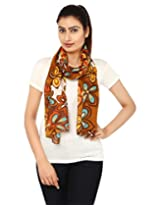 Anekaant Multi Floral Print Cotton Women's Scarf