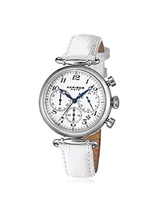 Akribos XXIV Women's AK630SSW White/Silver Stainless Steel Watch