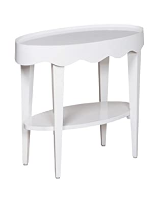 Article 24 Scallop Oval Table (White)