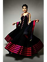 Shree Fashion Woman's Georgette With Dupatta [Shree (91)_Black]