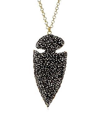 Turkish Delight Black Dagger Druzy Pendant Necklace