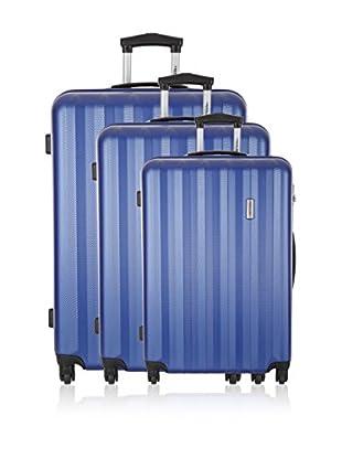Travel ONE Set de 3 trolleys rígidos Kilbride Azul