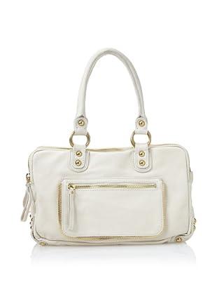Linea Pelle Dylan Triple Zip Shoulder Bag In Sand 39