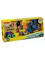 Fisher-Price Imaginext DC Super Friends Figures & Vehicles Gift Set -Batman, Joker, Two Face, Batwin