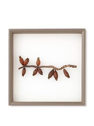 Vance Kitira Botanical Wall Decor, Gardenia Nut\/Calyx Coconut