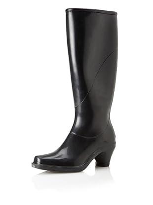 däv Women's Fashion Rain Boot (Black)