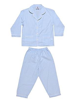 Allegrino Pigiama 100% Cotone Charly Boy (Azzurro)