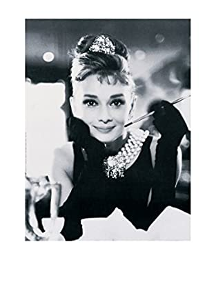 ArtopWeb Panel de Madera Hepburn Colazione Da Tiffany 60x80 cm