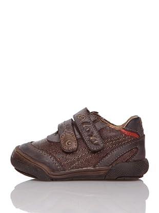 Billowy Zapatos Velcros (Marrón)