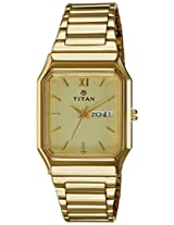 Titan Karishma Analog Gold Dial Men's Watch - NE161YM21