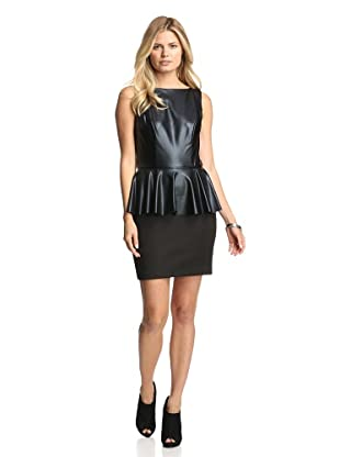 Alexia Admor Women's Coated Peplum Dress (Black)