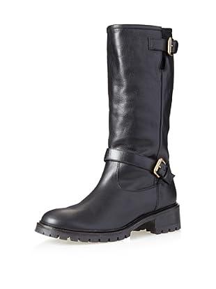 Fendi Women's Fur-Lined Buckle Boot (Black)