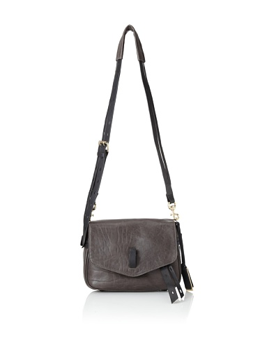 Gryson Women's Ellie Belted Strap Leather Cross-Body (Smog)