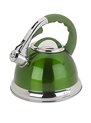 Lenox 2.5-Qt. Green Stainless Steel Whistling Tea Kettle