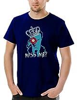 Socratees Men's Cotton Sherlock Inspired Moriarty T-shirt- Navy Blue
