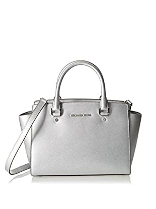 Michael Kors Bolso asa de mano Selma Medium Metallic Satchel