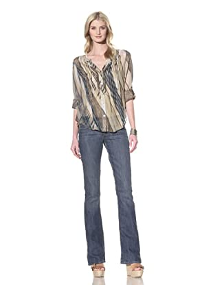 Hale Bob Women's Long Sleeve Button-Up Blouse