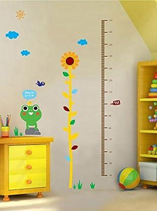 Ambiance Live Wandtattoo Frog, flower and birds (Kidmeter) mehrfarbig