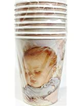 Lullaby & Goodnight Baby Shower Party - Hot/cold Cups (Pack of 8)