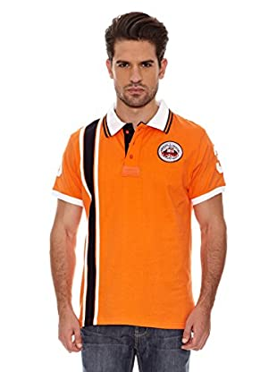 Geographical Norway Polo Manga Corta Kadford Ss Men 402 (Naranja/Marino)