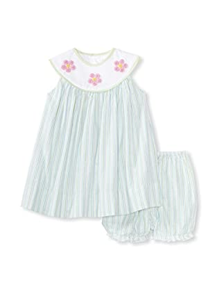 Bebe Mignon Baby Flower Dress with Bloomers (Beach)