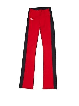 Naffta Pantalón Ajustado (Gris / Rojo)