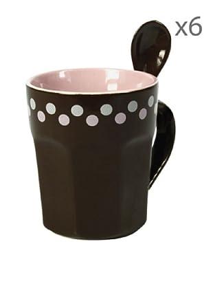 Delys by verceral Lote De 6 Mug Con Cuchara