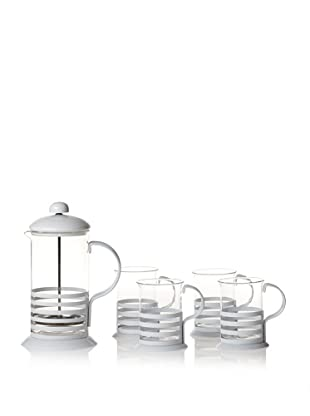 Classic Coffee & Tea Coffee & Tea Press Set (White)