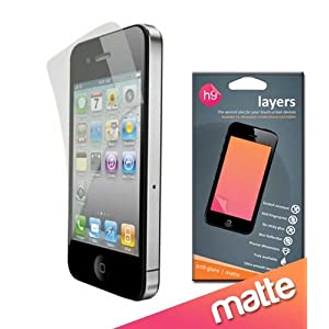 iPhone4 front & back Anti glare screen guard