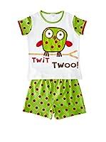 Pillerias Pijama Idalion (Verde / Blanco)
