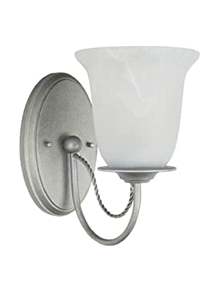 Sea Gull Lighting Plymouth 1-Light Wall/Bath Sconce, Weathered Pewter