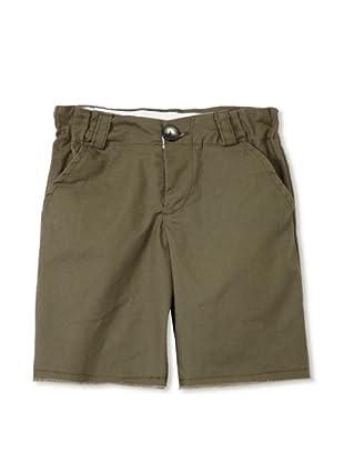 Upper School Boy's Cut-Off Shorts (Army Green)