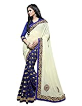 Texclusive Georgette With Blouse Piece Saree (Tex2Ch2 _Multi-Coloured)