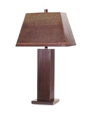 Palecek Pinstripe Lamp (Brown)
