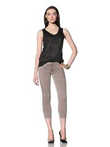 David Kahn Women's Lana Skinny Crop Jean (Gobi)