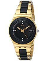 Swatch Analog Black Dial Women's Watch - YLG124G