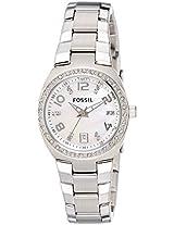 Fossil Dress Analog Silver Dial Women's Watch - AM4141