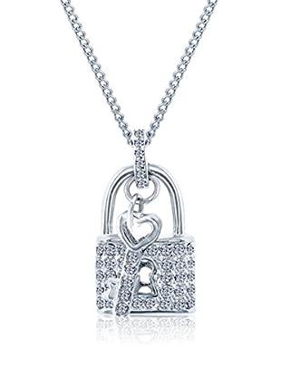 Diamond Style Halskette Padlock Clear Crystal