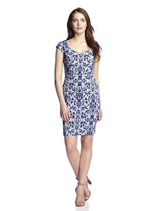 Julia Jordan Women's Printed Sleeveless Dress (Blue)