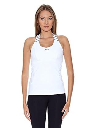 Naffta Camiseta Active / Gym (Blanco / Gris)