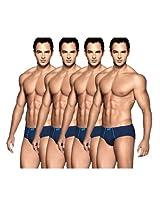 Euro Assorted Men'S Regular Briefs- Pack Of 4