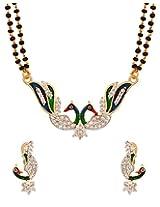 Voylla Metal Double Chain Mangalsutra For Women