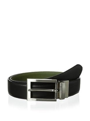 The British Belt Company Men's Cottesmore Reversible Belt (Black/Olive)