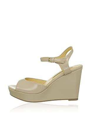 Buffalo London 312-4468 PATENT PU 143038 - Zapatos de pulsera  mujer (Beige)
