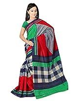 Bhagalpuri Silk Printed Red Bollywood Saree - VMS80051