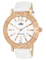 Elite analog Ladies dress White dial Women's watch - E53502G/801