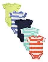 Carter's 5 Pack Bodysuits (Baby) - Stripes/Solids-18 Months