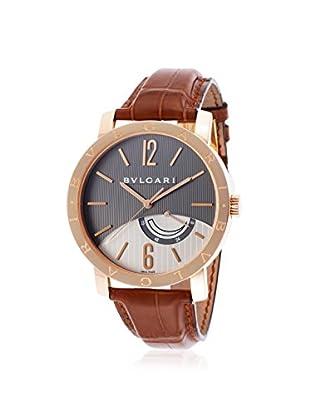Bvlgari Men's BBP41BGL-SD Brown/Grey Alligator Watch