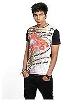 Casual Plain 100 Cotton Slim Tshirt -Black-Xl
