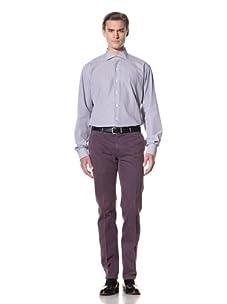 Domenico Vacca Men's Shirt (White/Navy Stripes)